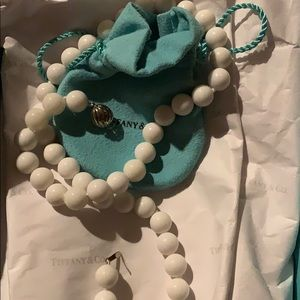 Tiffany & Co. White Dolomite Bead 10 mm necklace